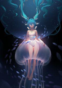 miku  , LY 炼妖 on ArtStation at https://www.artstation.com/artwork/nOB6E