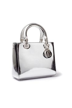 me wants it.... fDior- Lady Dior bag silver