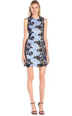 75498d5c88738 Calvin Klein Women s Sleeveless Round Neck A-Line Lace Dress