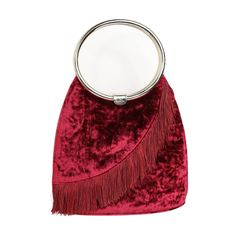 Christian Dior Red Velvet Fringe Handle Bag  | From a collection of rare vintage top handle bags at https://www.1stdibs.com/fashion/handbags-purses-bags/top-handle-bags/