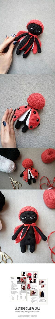 Ladybird Sleepy Doll Amigurumi Pattern