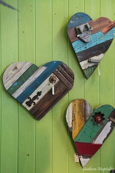 These hearts are so sweet looking. I would love to make them! #diy