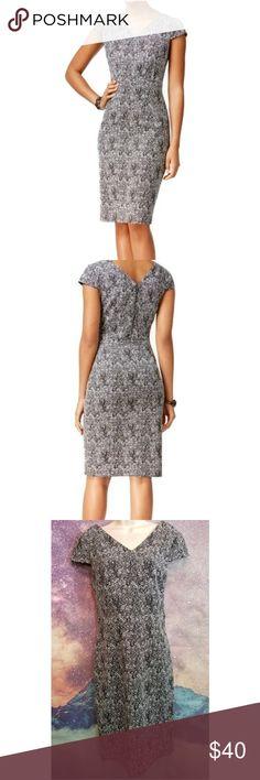 Betsey Johnson Metallic Sheath Dress Betsey Johnson V-neck Metallic Sheath Dress Size 8 Excellent Condition Betsey Johnson Dresses