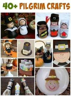Looking for pilgrim crafts for the kids this Thanksgiving? We have collected over 40 pilgrim crafts and edible crafts for you to make! Holiday Crafts For Kids, Family Crafts, Fun Crafts For Kids, Holiday Activities, Preschool Crafts, Halloween Crafts, Kid Crafts, Halloween Decorations, Christmas Crafts