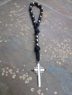 Rugged Pocket or Wrist Rosaries for Men, Military rosaries, single decade rosary. | CordBands