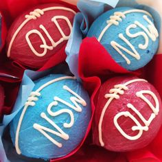 State of Origin Cupcakes -- rugby league party food