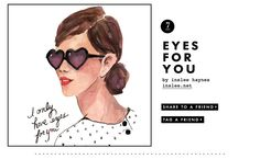 I only have eyes for you from @kate spade new york