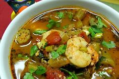 Shrimp Creole Soup with Okra    #saveur #dinnerparty