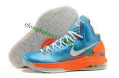ec6bfbc8a349 Latest Listing Discount Nike Zoom KD 5 V Blue Orange White Basketball Shoes  For Sale