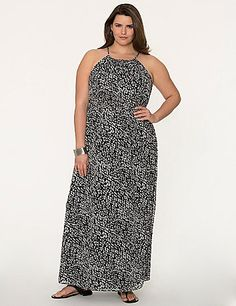 4fd98259543  LaneBryant. See more. Keep cool and chic in the sun in this printed  chiffon maxi dress with sexy split