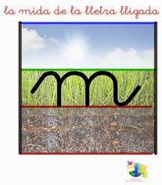 "* MÓN INFANTIL*: YA SABEMOS HACER LA LETRA ""LIGADA"" Handwriting, Alphabet, Symbols, Letters, Education, Montessori, Blog, Kids, Initials"