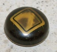 VINTAGE glow bubble CELLULOID  BUTTON 1 1/4 INCH 2 PIECE BUTTON (S)