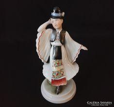 1941-es Herendi néptáncos fiú figura - Herend folk dancer boy figurine Hungary, Dancer, Folk, Porcelain, Princess Zelda, Fictional Characters, Art, Art Background, Porcelain Ceramics