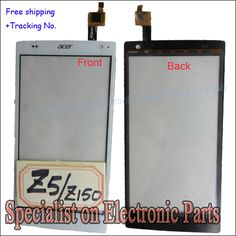 Black/White Top Quality Touch Screen Digitizer For Acer Liquid Z150 Z5 Outer Glass Panel Repair Parts Original Test Freeshipping