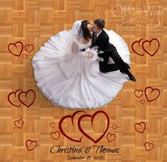 Wedding Hearts Dance Floor Decals