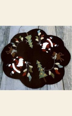 Rudolph's Stockings Wool Appliqué Pattern from The Merry Hooker Woolens