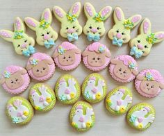 Easter Cupcakes and Cookies, Cupcakes e Cookies de Páscoa, Happy Easter,Eats, Sweets Cookies Decorados, Galletas Cookies, Iced Cookies, Cute Cookies, Cupcake Cookies, Sugar Cookies, Easter Cupcakes, Easter Cookies, Easter Treats