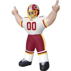 Redskins Tiny Inflatable Lawn Decoration