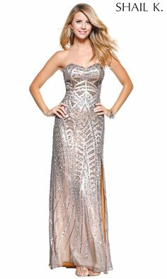 Shail K Sweetheart Neckline Long Dress 3512