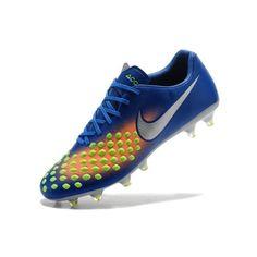 4ff3442c08 Nike Magista - Barato 2017 Nike Magista Orden II FG Azul Naranja Botas De  Futbol Chuteiras