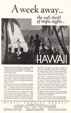 1931 Hawaii Tourist Bureau