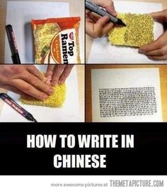 How to write in Chinese�