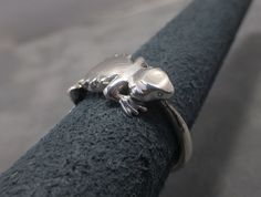 Bearded dragon ring  Sterling silver  Beardie by AnubisCollections