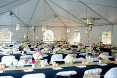 The classy white tent in our reception area! Decorate it as you please :) ©Topher Simon Photography