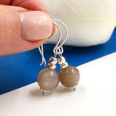 Moonstone Silver 925 Earrings - Gemstone Earrings for Women - Moonstone AAA Gemstone Earrings, Women's Earrings, Gemstones, Etsy, Pearls, Silver, Jewelry, Silverware Jewelry, Sterling Silver