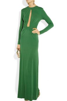 Issa open-front silk-crepe jersey gown
