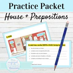 Spanish House Vocabulary and Prepositions Reading Practice