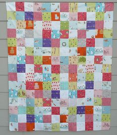 Munki flannel patchwork quilt top - crafter hours