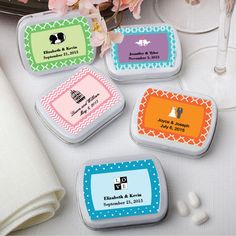 75 Cute Personalized Mint Tin DIY Wedding Party Shower Event Favor Bulk Lot #Fashioncraft
