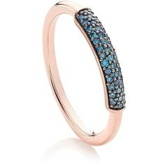 Monica Vinader Stellar Diamond Stacking Ring (23,710 INR) ❤ liked on Polyvore featuring jewelry, rings, pave diamond ring, monica vinader jewellery, stackers jewelry, blue diamond rings and diamond jewellery