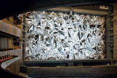 "Artist Pae White's ""MetaFoil"" (2008) at the Oslo Opera House."