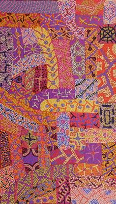 Adrianna Nangala Egan ~ Yarla Jukurrpa (Bush Potato Dreaming) - Cockatoo Creek quilt-like in its form Native Art, Art Painting, Dots Art, Tribal Art, Australian Art, Indigenous Australian Art, Culture Art, Art, Abstract