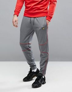 Lyle & Scott Fitness Law Slim Fit Sweatpant in Grey with Contrast Piping