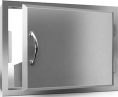 """Agape - Stainless Steel Door Horizontal by RCS. $259.00. Reversible Door Design for Left or Right Hand Swing. Heavy Duty. 24"""" Horizontal Stainless Steel Door for Outdoor Kitchens. Double Lined Raised Panel Face Optional Condiment Tray Mounts Inside ACT1 Reversible Door Design for Left or Right Hand. Save 13% Off! Outdoor Kitchens, Outdoor Cooking, Stainless Steel Doors, Raised Panel, Grills, Door Design, Utensils, Barbecue, Tray"""