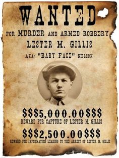 Baby Face Nelson Wanted Poster:
