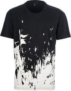 McQ Alexander McQueen Black Paint Splattered T-shirt