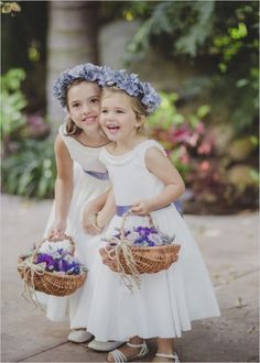 Cute flower girls <3 Photo by Iris and Light