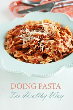 Healthy Swaps for Pasta Dishes (HowDoesShe? Healthy Pasta Sauces, Healthy Pastas, Pasta Recipes, Real Food Recipes, Snack Recipes, Cooking Recipes, Healthy Recipes, Healthy Foods, Snacks