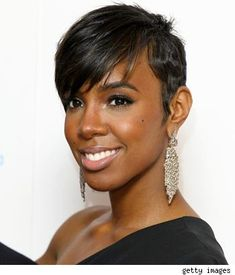 Kelly Rowland Short Hair Weave for Black Woman - Find lots of fabulous short hair styles for black women worldwide at 1966mag.com