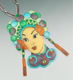 Margot de Taxco Sterling Silver and Enamel Necklace