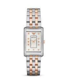 Emporio Armani Two-Tone 5-Link Bracelet Watch, 25 x 30mm