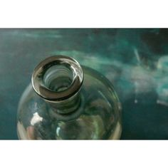 Vintage. Big blue-green bottle. Glass bottle. Vintage home decor. ($20) ❤ liked on Polyvore featuring home and home decor