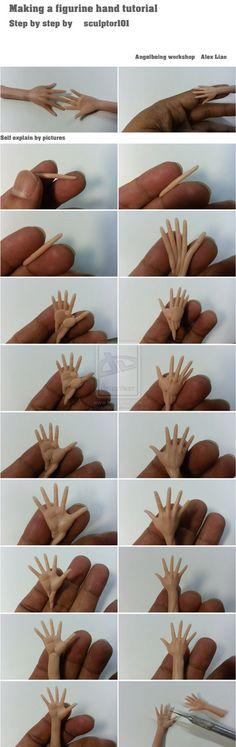 Making a figurine hand tutorial part I by sculptor101.deviantart.com on @deviantART