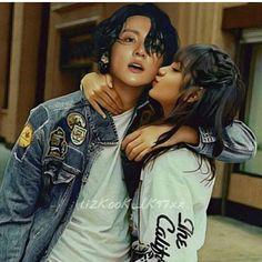 Kpop Couples, Cute Couples, Bts Girlfriends, Blackpink Memes, Bts Dancing, Black Pink Kpop, Blackpink And Bts, Foto Jungkook, Couple Relationship
