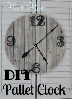 easy diy pallet clock, design d cor, diy home crafts, outdoor living, pallet projects, repurposing upcycling, This is the easiest DIY wood clock ever How do I know Because I actually did this without any help from The Husband