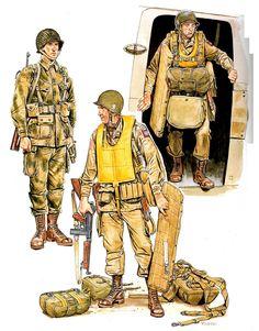 1944 Paracaidista americano